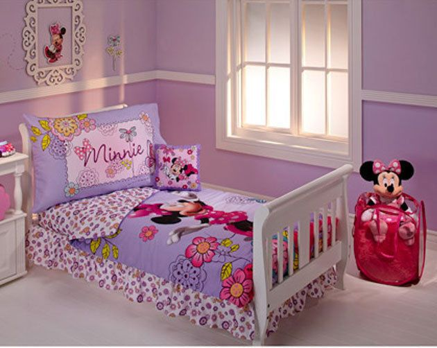 disney minnie mouse flower garden 10 piece toddler bedding set pink girls