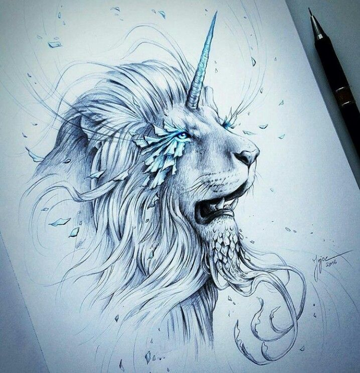 уже рисунки карандашом фантастика животные тех