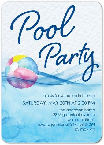Pool Party Invitations & Summer Party Invitations by Tiny Prints