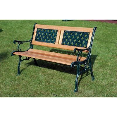 KINGFISHER 2 Seater Wooden Park Bench [63cm H x 118cm W x 8cm D] £81.99