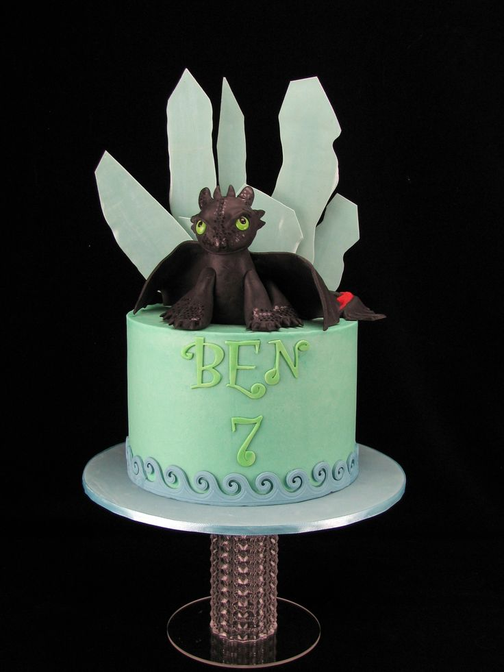 Happy 7th Birthday to my beautiful boy. Looking forward to this cookies and cream cake with buttercream tonight :) Toothless and the ice shards are handmade from fondant.
