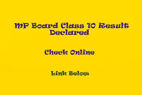 MPBSE Class 10 Results 2015 Declared: Check Now