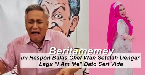 "Ini Respon Balas Chef Wan Setelah Mendengar Lagu ""I Am Me"" Dato Seri Vida   Ini Respon Balas Chef Wan Setelah Mendengar Lagu ""I Am Me"" Dato Seri Vida  Kini sedang viral lagu nyanyian DS Vida berjudul "" I Am Me"". Lagu tersebut dicipta oleh komposer yang hebat iaitu Edry Abdul Halim (Edry KRU). Banyak komen dan respon apabila mendengar lagu DS Vida itu. Ada yang suka dan ada yang tak suka. Kali ini chef selebriti yang terkenal dengan kelantangannya berbicara iaitu Chef Wan tampil memberi…"