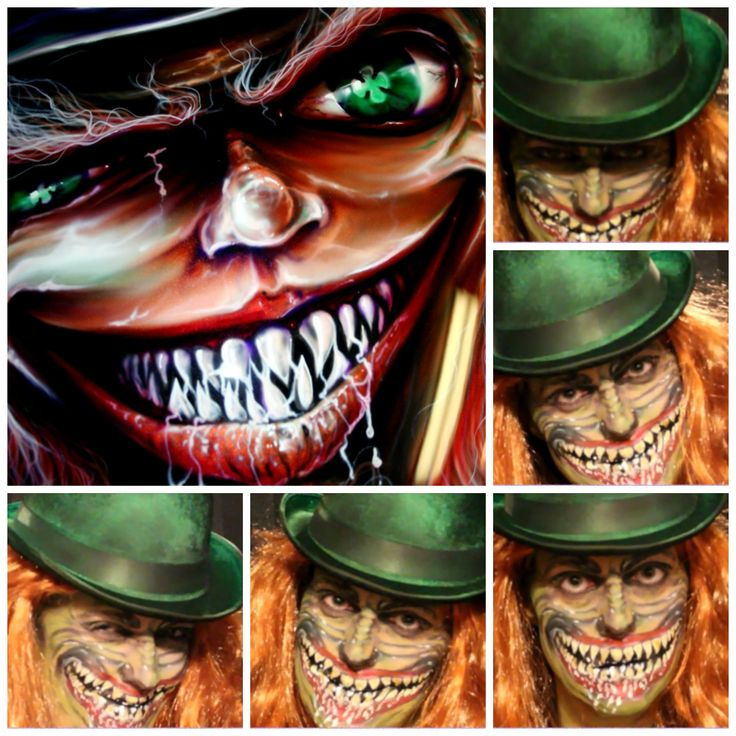 St. Patrick's Day - Evil Leprechaun Enjoy my self painting of an Evil Leprechaun www.fancyfacesbodyart.com Please feel free to comment below and ask any questions about products used or how to questions.