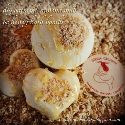 φυσικά καλλυντικά Stella Crown: diy oatmeal, almond milk & honey bath bombs- The HoneyBee Project  #diyideas #bathbomb #bathtreats #bathaddict #justgirlythings #bath #bathbombaddict #bathtub #handmadesoap #bubblebar #honey #oatmeal #almondmilk #noparabens #loveyourskin #naturalcosmetics #soapshare #bathandbody #oliveoil #SLSfree #beauty_elixirs #skincare #recipeideas #recipeshare #recipeblog #followme #φυσικά_καλλυντικά #stella_crown
