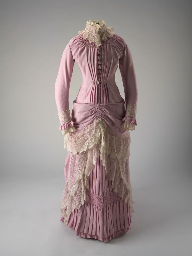Woollen Dress from the Springfield station, NSW, purchased from the David Jones department store in Sydney, 1885, at the National Museum Australia