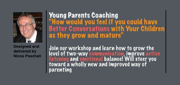 """How to have better conversations with your children as they grow and mature!"" or pay the price of sleepless nights!  A practical workshop to learn how to engage children in a dialogue with less defensiveness and less argument. The all new and updated workshop to teach parents how to engage in a conversation with their children beyond sadness and frustration, how to connect more and have a profound influence on the way they think. Feeling Good most of the time!"
