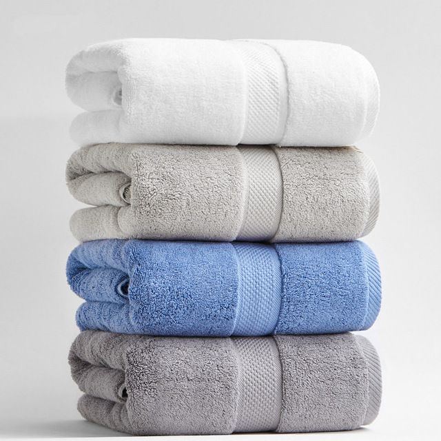 80 160cm 800g Luxury Thickened Cotton Bath Towels For Adults Beach