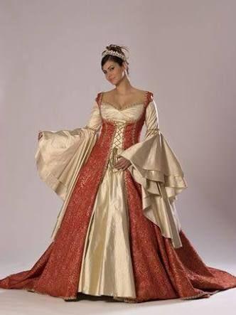 Resultado de imagem para vestidos princesa medieval