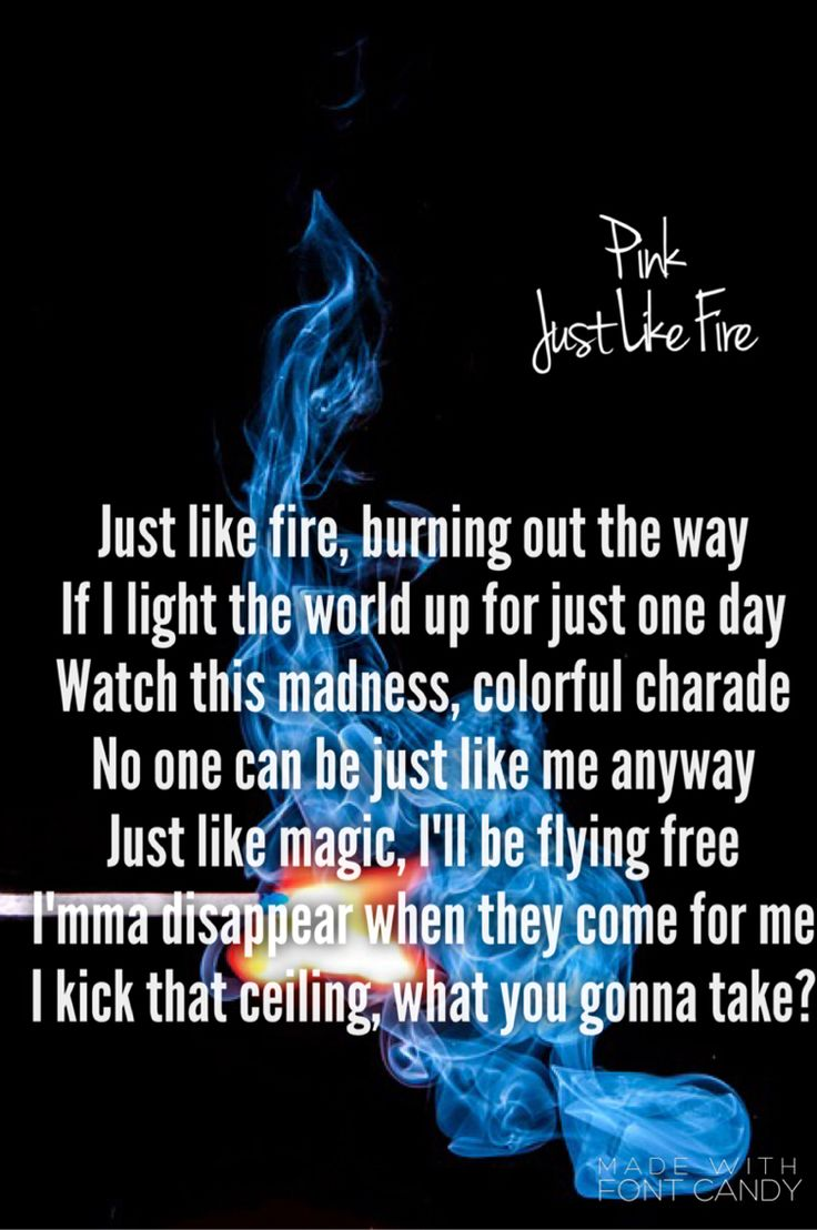 Just Like Fire - P!nk (Alice Through the Looking Glass Soundtrack) saw the movie on my own tonight and LOVED IT and love this song ❤️ JG