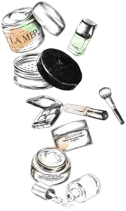 Makeup Products Drawing | www.imgkid.com - The Image Kid ...