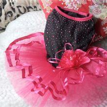 Bonito Pet Dog vestido Bling Bling Tutu vestido de renda Cat princesa roupas suprimentos de flores alishoppbrasil