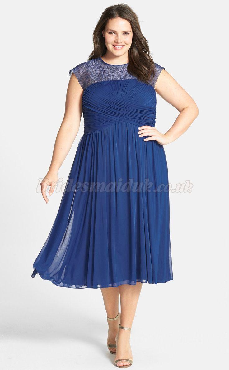 24 best plus size bridesmaid dresses images on pinterest plus chic a line tea length plus size bridesmaid dresses ombrellifo Images