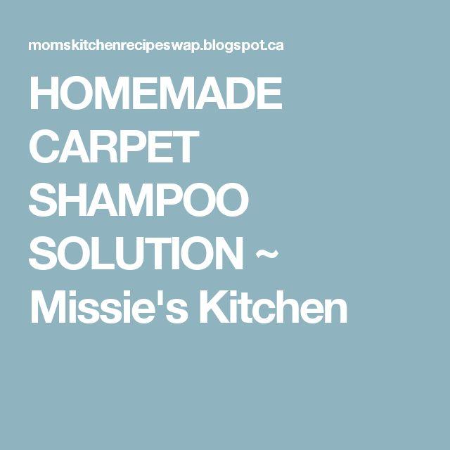 HOMEMADE CARPET SHAMPOO SOLUTION ~ Missie's Kitchen