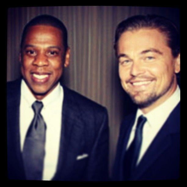 The Great Gatsby (2013) | NYC Premiere: music mogul Jay-z with actor Leonardo DiCaprio (Gatsby).