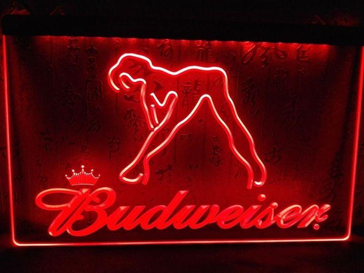 Epic LE Budweiser Exotic Dancer Stripper Bar Light Sign