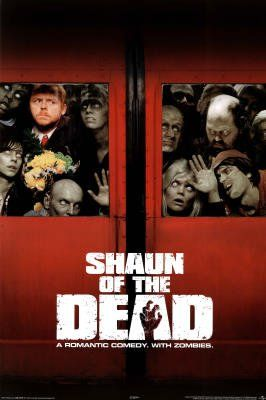 Shaun of the Dead Movie Simon Pegg Zombies Poster Print
