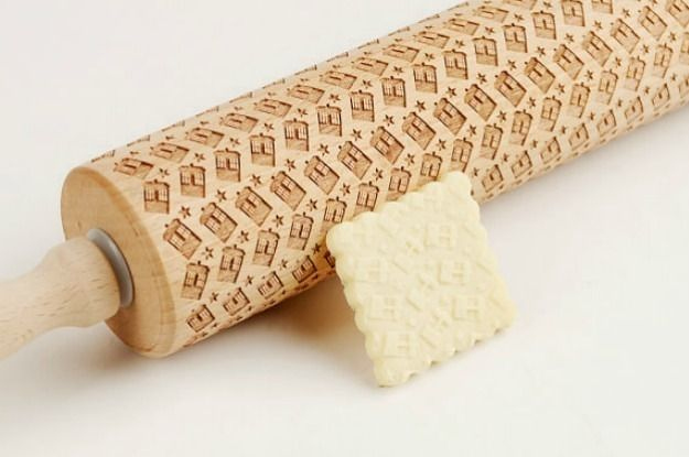 A tardis rolling pin. This is a cool gift for any kitchen geek in your family.