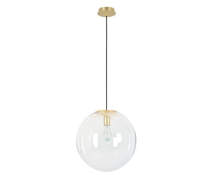 Marcel 400mm Pendant in Clear/Brass | Modern Pendants | Pendant Lights | Lighting