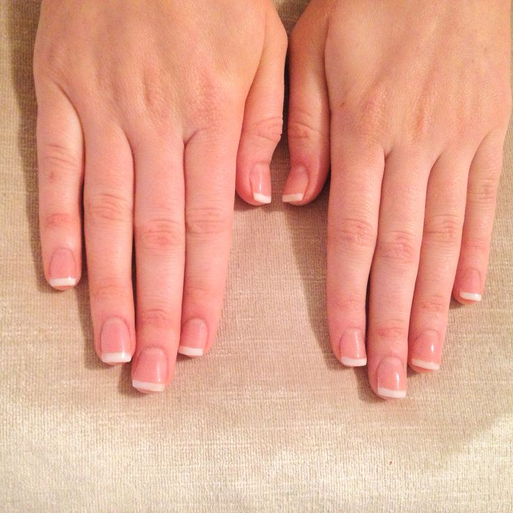 French acrylic sculpted extensions
