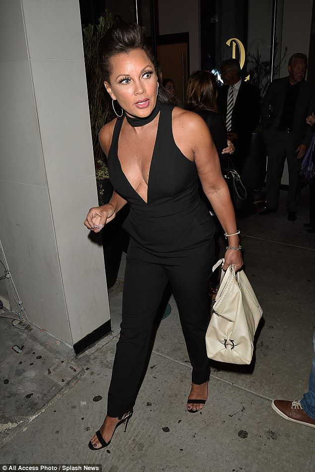 Daytime Diva! Vanessa Williams flaunted her impressive cleavage in a plunging catsuit at a...