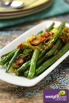 Green Beans with Bacon Recipe. #GreenBeansRecipes #DietRecipes #BaconRecipes #WeightLossRecipes weightloss.com.au