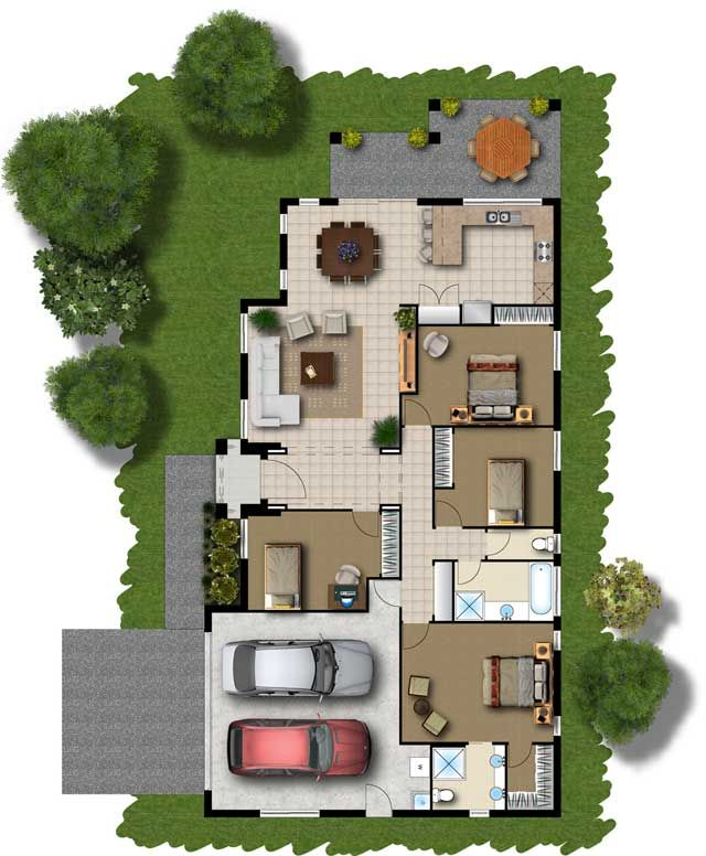 home design simple home design with new collection of inspiring modern home floor plans with green yard many big trees at there with four bed rooms car - Floor Plan Sites