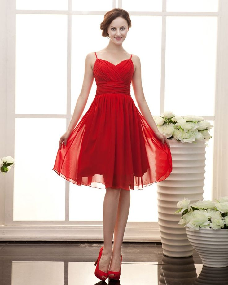 168 best images about Top 50 Short-Red Bridesmaid Dresses on ...