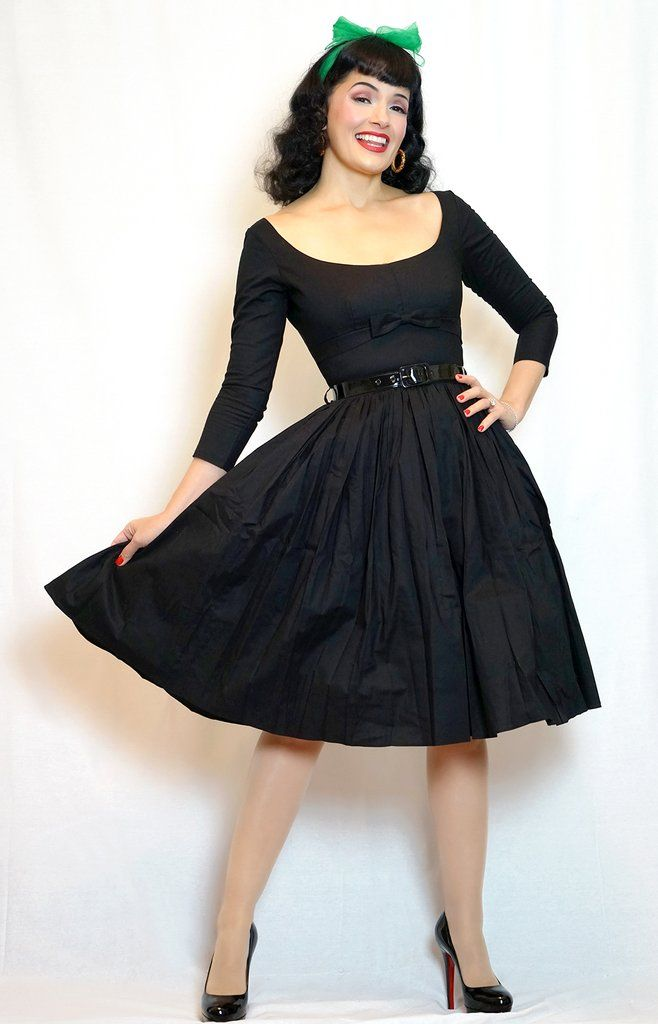 Bernie Dexter Grace Dress in Black #1950s-pin-up #50s-dresses #50s-pin-up #bernie-dexter #bernie-dexter-dress #cf-size-s #cf-size-xs #cotton-dress #halter-dress #inspired-dress #made-in-the-usa #party-dresses-for-women #pin-up-dress #pin-up-dresses #pinup #pinup-clothing #pinup-dress #retro-clothing #retro-fashion #rockabilly #rockabilly-clothing #rockabilly-pin-up #sleeveless-dress #sundress #vintage-clothing #vintage-dress #vintage-inspired-clothing