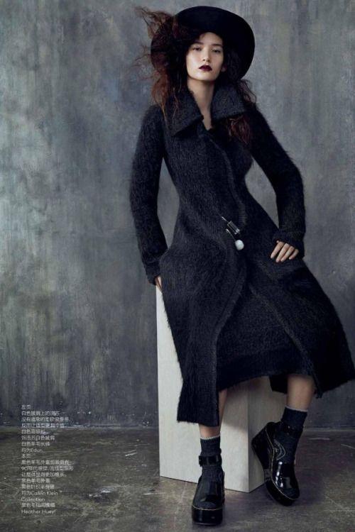 """japanesemodel:  """" Mona Matsuoka by Sharif Hamza for Vogue China August 2014  """""""
