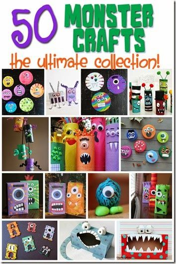 50 Fun and Silly Monster Crafts