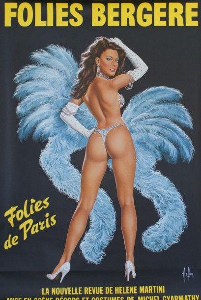 """ASLAN FOLIES BERGERE. """"FOLIES DE PARIS"""".Vers 1965 Ets Saint-Martin - 148"""