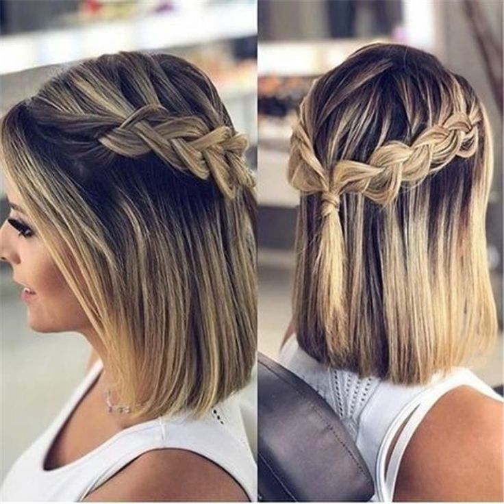50 Best Short Or Mid Length Hairstyle For Spring Page 15 Of 50 Prom Hairstyles For Short Hair Braids For Short Hair Short Hair Updo