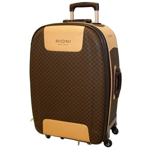 Signature Brown 360 Large Luggage by Rioni Designer Handbags & Luggage  http://www.alltravelbag.com/signature-brown-360-large-luggage-by-rioni-designer-handbags-luggage-3/