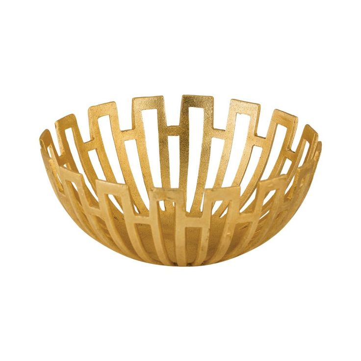 bowl metal decor chairish gold decorative product