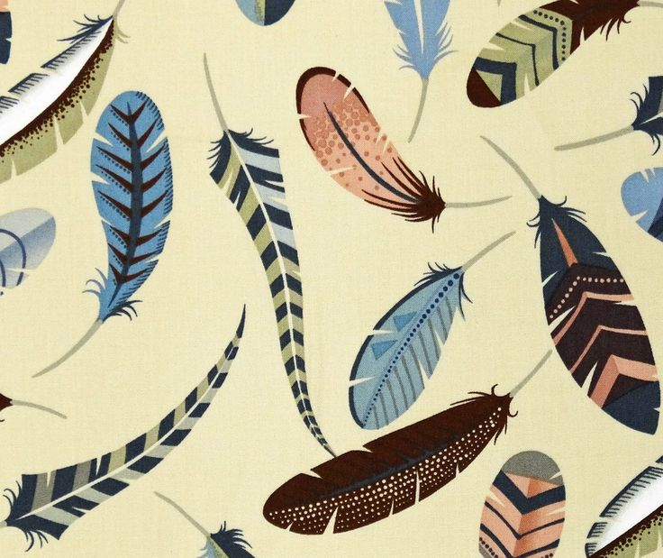 Iroquois Feather Dove Grey Cotton Fabric, Alexander Henry
