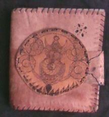Personal notebook from leather with pyrografy
