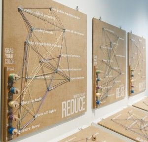 """Michelle Hogan's interactive art piece, """"Thread Your Actions,"""" will be on display as part of the Exploring Sustainability Exhibition at UMFA. // Courtesy UMFA"""