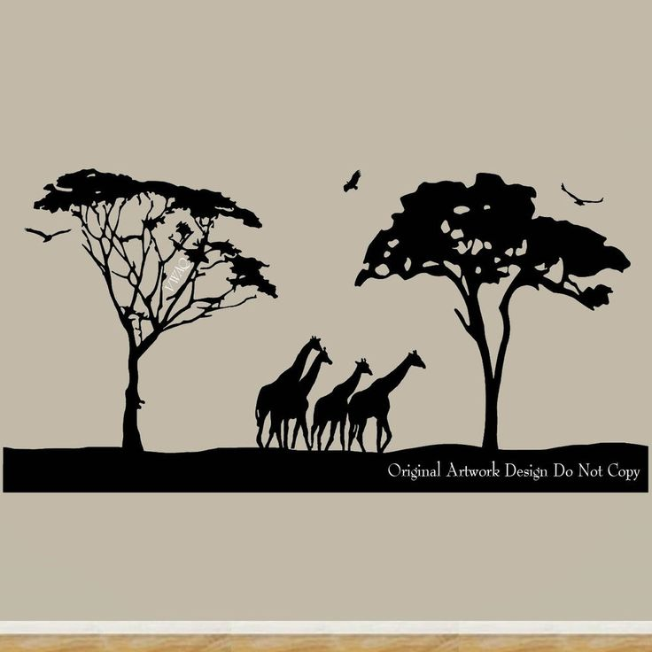 Best Nursery Ideas Images On Pinterest Nursery Ideas - Wall decals animalsafrican savannah wall sticker decoration great trees with