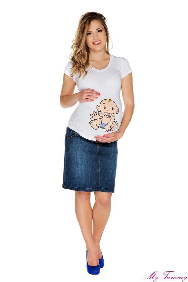 Spódnica ciążowa Nicole niebieska
