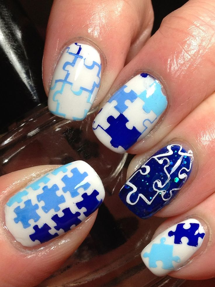 26 best nail designs images on pinterest nail designs autism april 2nd is world autism awareness day these are the nails i did for it prinsesfo Images