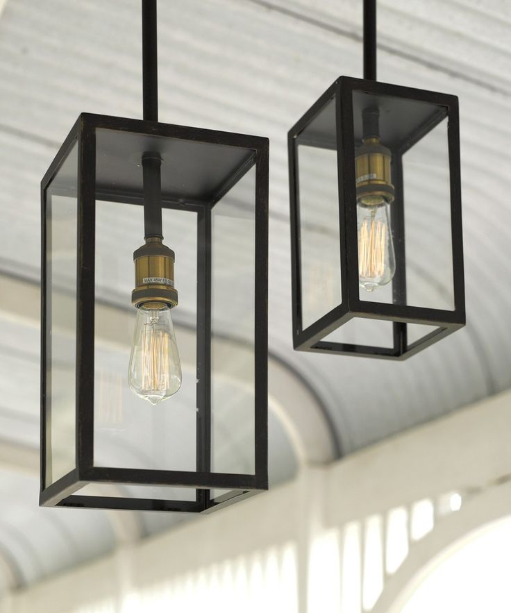 Beacon Lighting - Southampton 1 light traditional small alfresco exterior pendant in antique black with clear glass