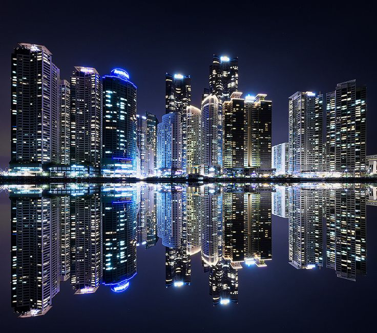 Busan city skyline by Jimmy Mcintyre, via 500px         How To Create Stunning Golden Hour and Night Cityscapes