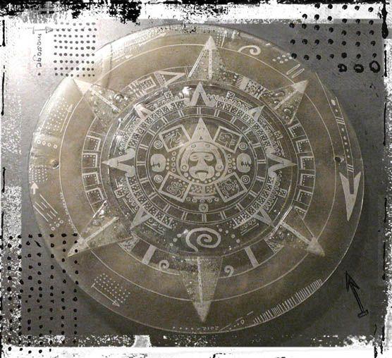 Dorota Morawska     The New Mayan Calendar     2012  fused glass engraved http://artglassandceramic.blogspot.com/