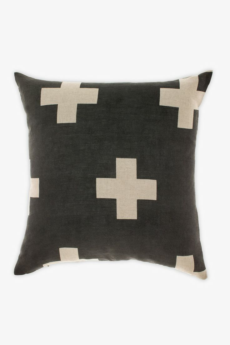 Crosses Linen Cushion by Aura available at Superette #cushion #superettestore