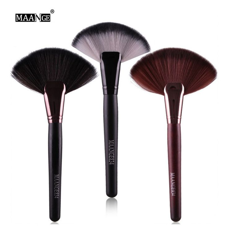 Professional Flat Contour Foundation Blush Brush Face Makeup Big Powder Brushes Synthetic Hair Cosmetics Beauty Tools 3Color