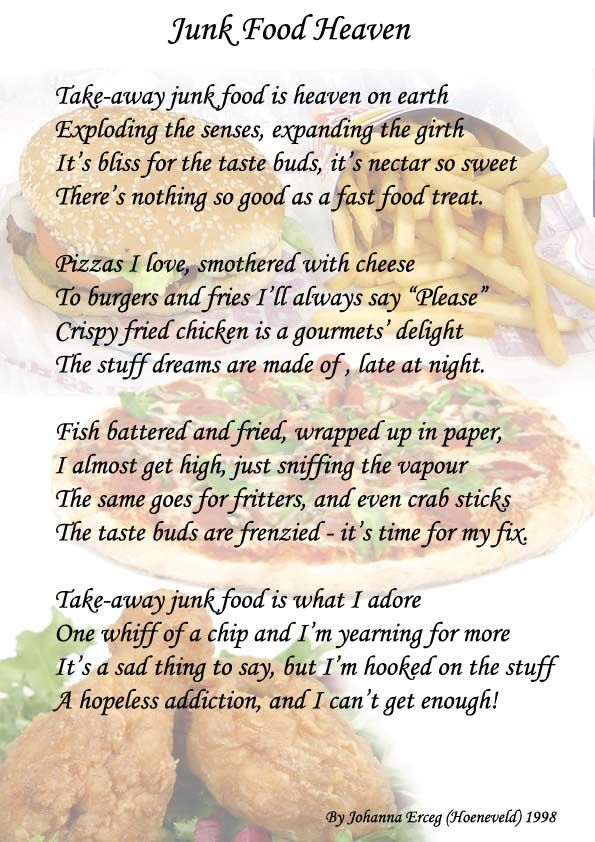 Junk Food Heaven poem | Picture Poems from FFP Community Poets ...