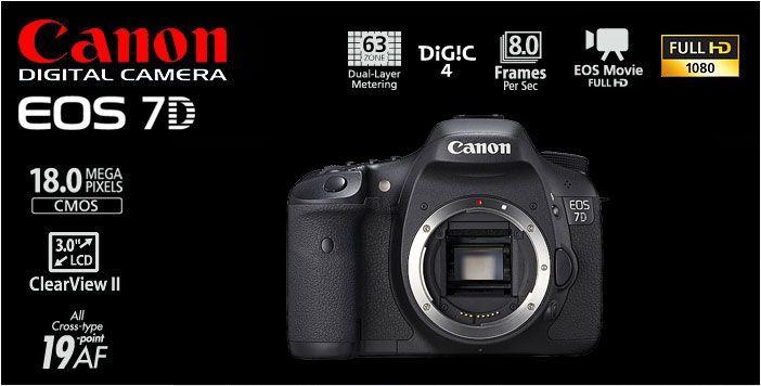 Canon EOS 7D Body Rp.12.560.000.- | Bonus : Exclusive EOS Jacket