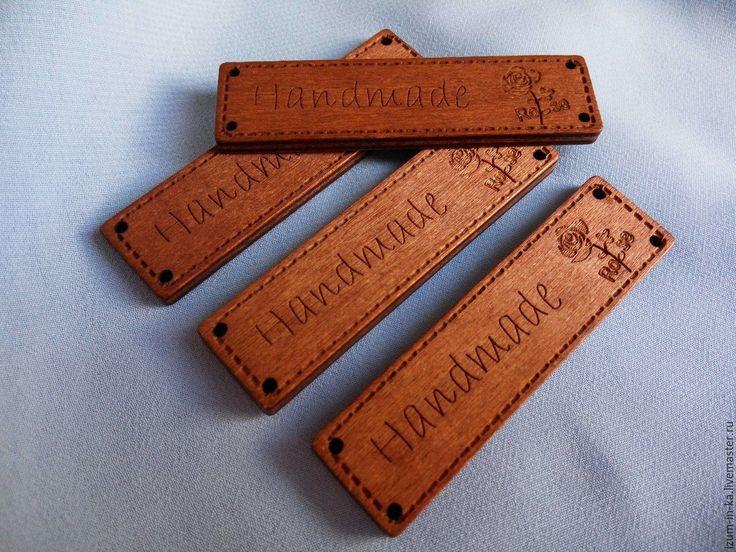 Купить Деревянный ярлычок HandMade - коричневый, Декор, декоративный элемент, ярлык, ярлыки, ярлычки, дерево