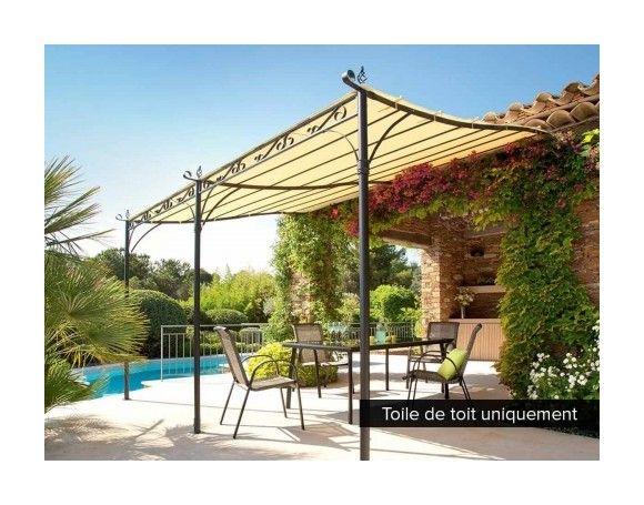 Affordable best toile de toit pour la pergola hossegor x m ecru t jardin with bache pergola - Toile jardin castorama brest ...